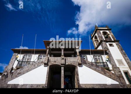 Portugal, Azoren, auf der Insel Terceira, Praia da Vitoria, Rathaus - Stockfoto