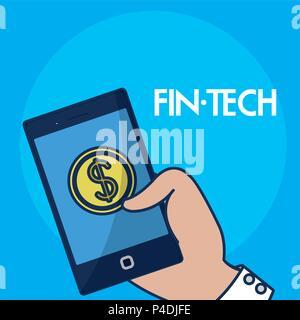 Finanzielle Technolgoy Konzept - Stockfoto