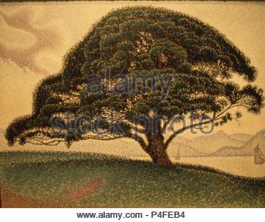 Die bonaventura Kiefer - 1893 - 65,7 x 81 cm - Öl auf Leinwand. Autor: Paul Signac (1863-1935). Lage: das Museum der feinen künste, Houston - Texas. Auch als: PINO DE LA BUENAVENTURA bekannt. - Stockfoto