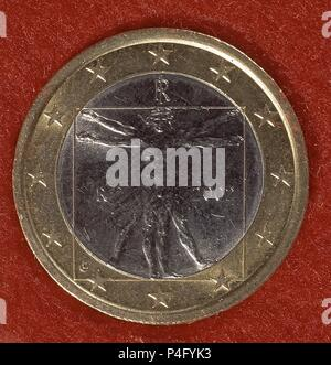 2 Euro Münze Italien 2002 Stockfoto Bild 41445599 Alamy