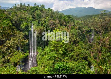 Sekumpul Wasserfälle in Bali, Indonesien - Stockfoto