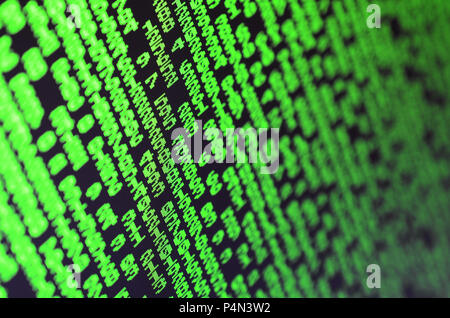 Makro von Passwort Auswahl am Monitor der Computer im Büro. Das Konzept von Hacking der Schutz der persönlichen Daten. Der Strom der-Support - Stockfoto