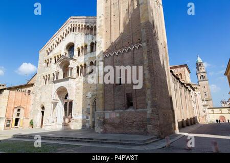Parma - die Kuppel - Dom (La Kathedrale Santa Maria Assunta). - Stockfoto