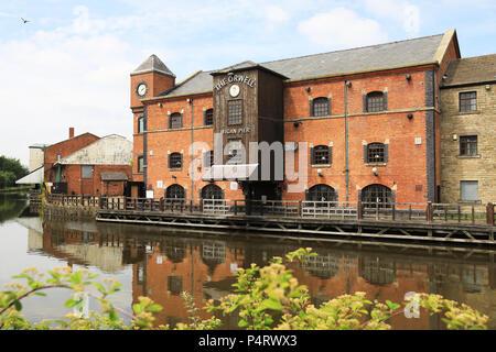 Wigan Pier, bekannt durch George Orwell, in Lancashire in NW, England, Grossbritannien - Stockfoto