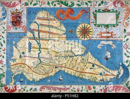 MAPA DE AMERICA DEL SUR. Año 1625 Stockfoto, Bild: 209569320 - Alamy