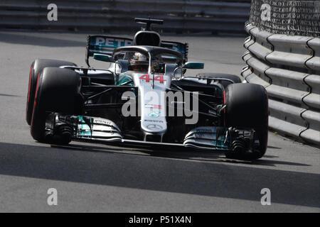 Monte Carlo Formel 1 Grand Prix in Monaco mit test Tag: Lewis Hamilton Wann: 24. Mai 2018 Credit: IPA/WENN.com ** Nur für die Veröffentlichung in Großbritannien, den USA, Deutschland, Österreich, Schweiz ** verfügbar - Stockfoto