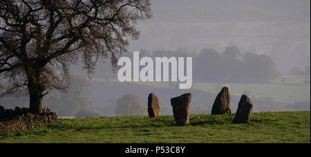 Die Grauen Damen Steinkreis auf harthill Moor (2) - Stockfoto