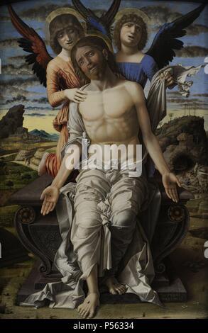 Andrea Mantegna (1431-1506). Italienischer Maler. Christus als den leidenden Erlöser, 1495-1500. National Museum der Kunst Kopenhagen. Dänemark. - Stockfoto