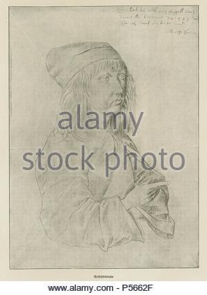 Albrecht Dürer - Selbstbildnis im Alter von 13 Jahren. Silverpoint auf Papier, 275 x 196 mm. Autor: Albrecht Dürer (1471-1528). - Stockfoto