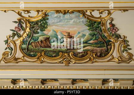 Malerei der ländlichen Szene in barocken Rahmen - Stockfoto