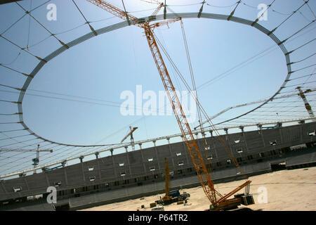 Bau des neuen Stadions, Kuwait City - Stockfoto