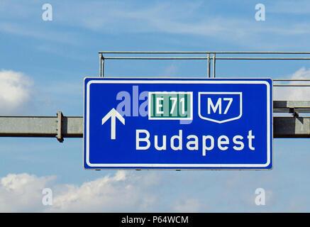 Weg nach Budapest - Stockfoto