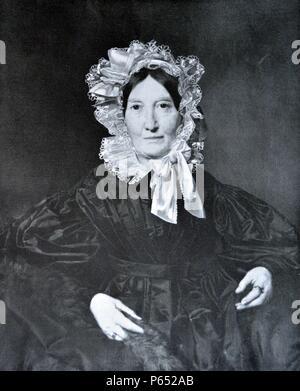 Portrait von Frau von Lerchenau von Ferdinand Georg Waldmüller (Hilfe Info) (15. Januar 1793 in Wien â € ì 23. August 1865 in Hinterbrühl, Österreich) war ein österreichischer Maler und Schriftsteller. - Stockfoto