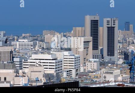 Luftaufnahme von Kuwait City. - Stockfoto