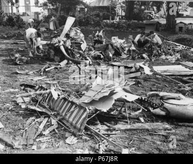 Wrack des japanisches Flugzeug abgeschossen während des Angriffs auf Pearl Harbour. Zweiter Weltkrieg - Stockfoto