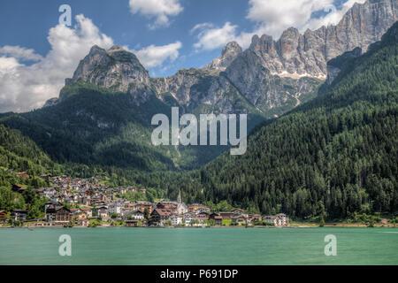 Alleghe, Belluno, Dolomiten, Venetien, Italien, Europa Stockfoto