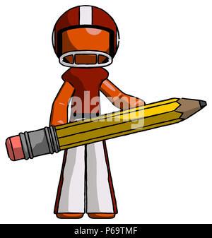 Orange Fussballspieler Mann Kunstler Schriftsteller Oder