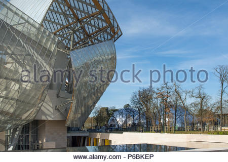 Frankreich, Paris, Fondation Louis Vuitton von Architekt Frank Gehry; Zwingend Credit: Architecte Franck Gehry - Stockfoto