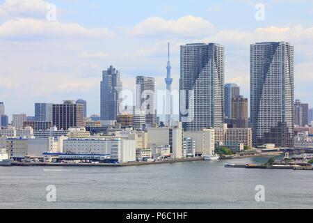 Skyline von Tokio, Japan - stadtbild von Chuo Bezirk. Die moderne Stadt. - Stockfoto