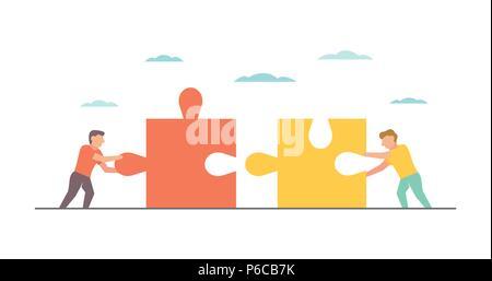 Teamwork Vector Illustration für Business Design und Infografik - Stockfoto
