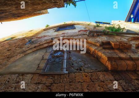 Tel Aviv, Israel, alten gepflasterten Straßen im Arabischen Stil in der Altstadt von Jaffa. - Stockfoto