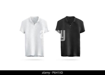 Schwarz Modell für die Gestaltung der Kleidung t-shirt. Junger Mann ...