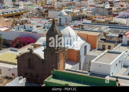 Blick über die Dächer von Las Palmas, Gran Canaria, Kanarische Inseln, Spanien - Stockfoto
