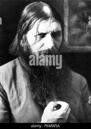 Rasputin, der seltsame Magnetkraft von Analphabeten Sibirische Bauern legen in die Hypnotischen kraft seiner Augen. - Stockfoto