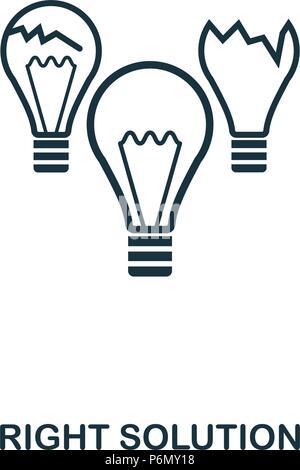 Richtige Lösung Symbol. Line Style Icon Design. UI. Abbildung: richtige Lösung Symbol. Piktogramm isoliert auf Weiss. Bereit in den Bereichen Web Design, Apps nutzen, s - Stockfoto