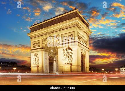 Paris, Arc de Triumph, Frankreich - Stockfoto