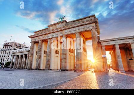 Berlin, Brandenburger Tor, Deutschland - Stockfoto