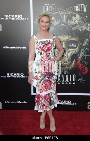 Elisabeth Rohm bei der Ankunft für SICARIO: TAG DER SOLDADO Premiere, Regency Dorf Theater - Westwood, Los Angeles, CA 26 Juni, 2018. Foto von: Priscilla Grant/Everett Collection - Stockfoto
