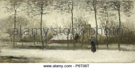 Winterlandschaft, Willem Maris, C. 1875. - Stockfoto