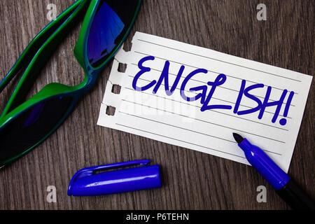 Wort Schreiben Text Englisch Motivationale Nennen Business Konzept