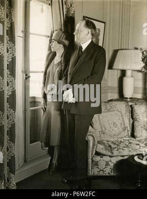US-Präsident Calvin Coolidge mit seiner Frau, USA 1931 - Stockfoto