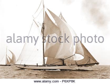 Mayflower, Goelet Cup Rennen, Mayflower (Schoner), Goelet Cup Rennen, Yachten, Regatten, 1891. - Stockfoto