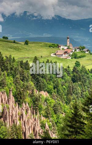 Erdpyramiden, Ritten - Ritten, Trentino Alto Adige - Südtirol, Italien - Stockfoto