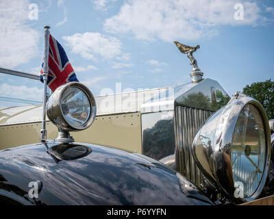 Oldtimer Rolls Royce Kühler - Stockfoto