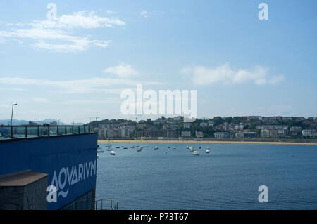 Bilder von Donostia/San Sebastián Baskenland 2018, Playa de Ondarreta und Playa Concha und Strände - Stockfoto
