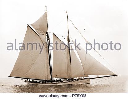 Mayflower Mayflower (Schoner), Yachten, 1891. - Stockfoto