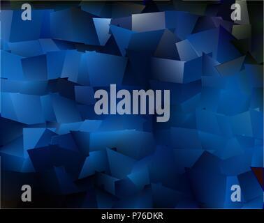 Der Abstrakte Expressionismus, fantastische blaue Halbedelstein Hintergrund - Stockfoto