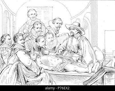 Die Anatomie-Lektion von Dr. Nicolaes Tulp, 1632. Künstler ...