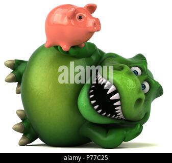 Spaß Dinosaurier - 3D-Darstellung - Stockfoto