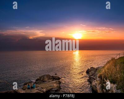 Blick auf die Adria in der Nähe von Rovinj, Adria, Istrien, Kroatien, Europa - Stockfoto