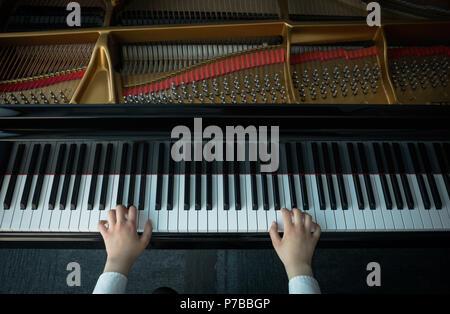 grundschule und klaviermelodie von j. conone. escuela elementary y melodica de piano por j