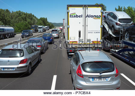 Verkehr Nahe A7