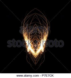 Stahl Wolle Spinnen - und Spiegelung - Stockfoto