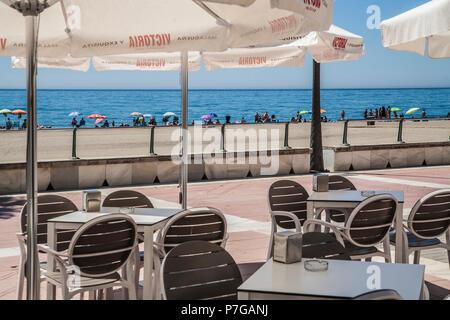 La Rada Strand in Estepona, Spanien, - Stockfoto