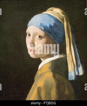 m dchen mit perlenohrring 1665 johannes vermeer oder jan vermeer 1632 1675 niederlande. Black Bedroom Furniture Sets. Home Design Ideas