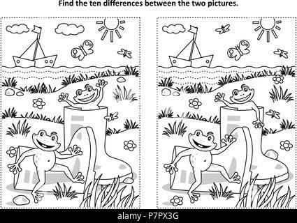 Finden Sie die Unterschiede-Bilderrätsel - spielerische Schneemänner ...